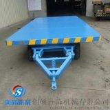天津平板拖车 工业平板牵引车 轨道电瓶车 仓库拉货车