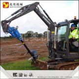 小型挖掘机螺旋钻机螺旋式电线杆钻孔机-前置式挖坑设备-水泥杆螺旋钻机