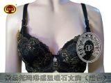 托玛琳磁疗保健文胸刺绣工艺奢华风格温变涂层托玛琳磁疗保健文胸