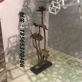 酒店会所不锈钢雕塑镜面抽象植物艺术荷花工艺品摆件厂家