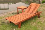 方贸园林定做实木沙滩椅条形椅