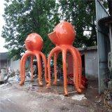 章鱼雕塑 玻璃钢卡通雕像 海陵岛仿真大型章鱼小品摆件定制