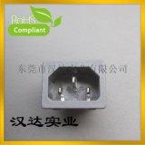 AC电源插座 品字形电源插座 DB-14-2F 梅花插座 工业插座