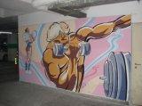 南京浦口健身馆墙绘JSG-1 南京健身馆彩绘dfcart