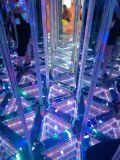厂家供应新款铝合金无限镜子迷宫游乐设备