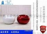 上海雕塑商场景观装饰彩色圆形玻璃钢凳子、条纹玻璃钢圆凳