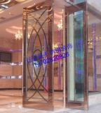 物美價廉玫瑰金玻璃門、304鈦金不鏽鋼商鋪大門
