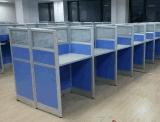 厂家订做办公家具职员电脑办公桌四人位组合办公屏风桌批发