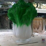 厂家直销仿真玻璃钢大白菜雕塑/玻璃钢蔬菜雕塑
