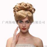 广州动漫假发批发 动画版灰姑娘公主假发 欧美优雅高贵
