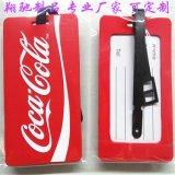 现模环保PVC软胶可口可乐行李牌 登机箱包识别吊牌 旅行箱包挂牌 handbag tag