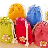 廠家定制 絨布束口袋 抽繩束口袋 可愛卡通小布袋 衣服玩具收納袋