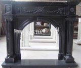 黑色大理石雕刻壁炉