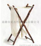 【夏思家居】美式乡村竹藤收纳袋收纳篮脏衣篮 仿古做旧loft家具