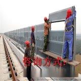 铁路声屏障厂家@道路隔音墙@镀锌板透明型声屏障厂家