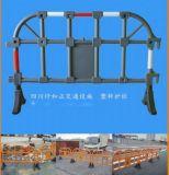 四川防护桩 成都塑料护栏 双流塑料护栏送货上门金牛区铁马围栏价格