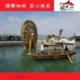 木船厂家供应景区游船 观光木头船 旅游船 摇橹船 乌篷木船出售
