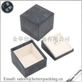 厂家定制高档首饰盒 塑料介指盒 天地盖斜开珠宝盒 戒指盒