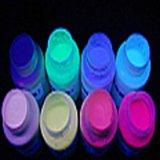 漆华仕紫光隐形幻彩颜料 荧光颜料100克8色