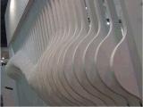 弧形铝方通幕墙,室内弧形铝方通装饰吊顶,弯曲铝方通厂家定制