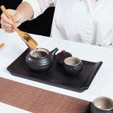 德化陶瓷干泡茶具一壶两杯家居日用陶瓷茶具 陶瓷茶盘千禹