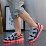 批发情侣款LED灯鞋USB充电男女板鞋休闲鞋七彩发光鞋夜光鞋荧光鞋