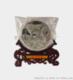 狗年旺财工艺品摆件礼品 纪念章礼品摆件 商务馈赠 彩银纪念品