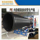 【直销】专业生产 HDPE内肋波纹缠绕管生产线   【图】 内肋管设备