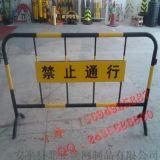 专业定制白色烤漆铁马 红白移动交通施工护栏 现货临时铁马交通护栏
