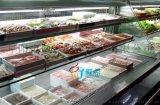 重庆老火锅点菜柜,火锅店阶梯式冷藏冷冻冰箱展示柜
