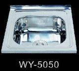 WY-5050 50*50CM俄罗斯 中亚 欧洲方形不锈钢水槽