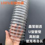 PU钢丝伸缩管 钢丝波纹管 PU钢丝螺纹管工业真空吸尘器  高伸缩钢丝波纹管