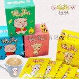 进口蜂蜜奶茶猪仔羊妹茶包即溶茶饮料台湾正品批发