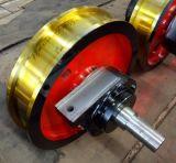 起重机车轮组厂家 φ350x100 轴承型号7520 铸钢轨道车轮组