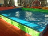 供应充气水池 支架游泳池游乐设施手摇滚筒大型户内外儿童乐园