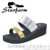高跟人字拖女士坡跟防滑夹脚拖鞋夏季韩版厚底凉拖时尚沙滩鞋凉鞋