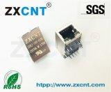 供应RJ45带灯百兆变压器带POE供电插座ZXRJ-195-01NL