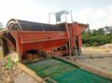 赤峰移动式滚筒轮子淘金车 旱地选矿设备