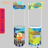 广州万雅65L圆形 易拉罐饮料大冰桶 带广告牌