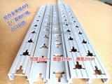 铝合金货架单排AA柱支架 双孔2.4米靠墙挂衣架货架