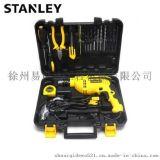 STANLEY/史丹利冲击钻STDH6513V电钻手枪钻套装工具箱