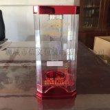 新款大八角带盖亚克力透明酒盒可设计定做