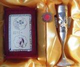 四川元素礼品 古蜀文化牙签筒/名片盒/ 书签三件套 成都礼物