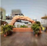 供应游乐园入口各种造型玻璃钢拱门 来图定做