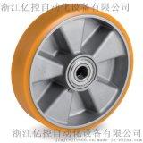 进口减震重载8T意大利Tellure rota工业脚轮,聚氨酯轮