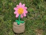 DIY新款向日葵/成品太陽花盆景/手工編織擺件/家居飾品/玩偶創意禮物