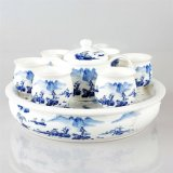 手绘陶瓷茶具 定做陶瓷茶具 商务礼品陶瓷茶具