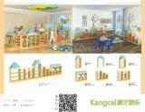幼儿园组合樟子松实木区角收纳柜 储物整理松木区域柜子