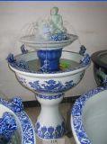 供应景德镇青花瓷喷泉加湿器 手绘陶瓷喷泉
