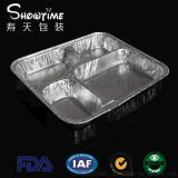 860ml四格多格一次性铝箔餐盒寿天包装